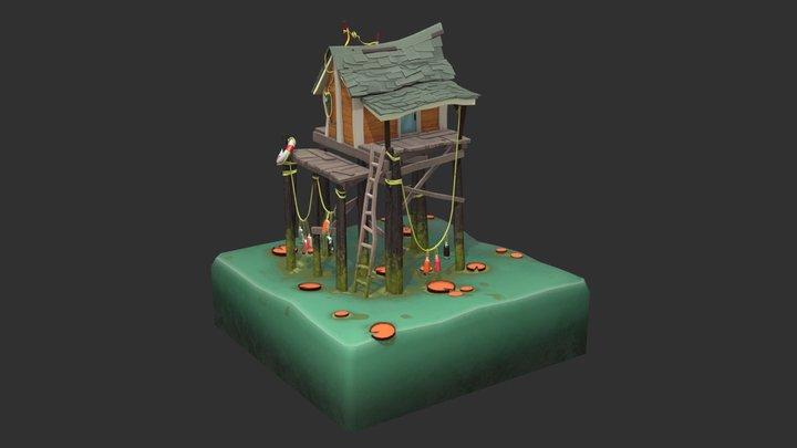 Fishing Shack 3D Model