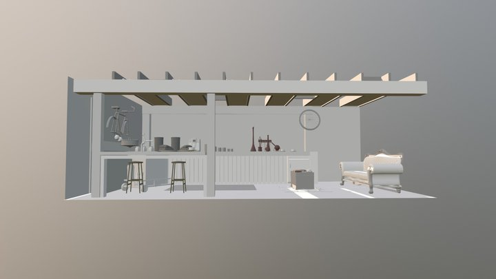 Brojects In The House: Coffee Bar 3D Model