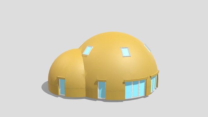"""3D dome 11m + 7m UAB """"SFEROS"""" 3D Model"""