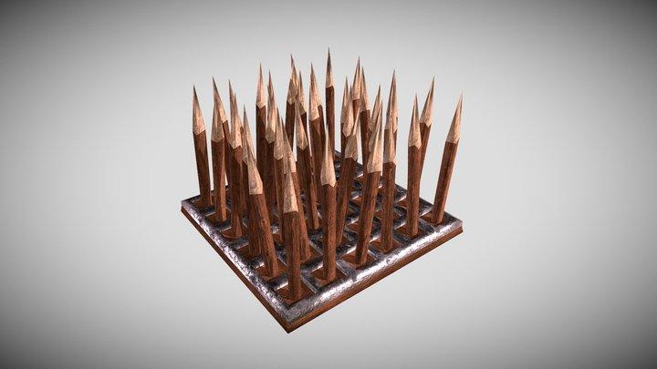 Wooden Spikes 3D Model