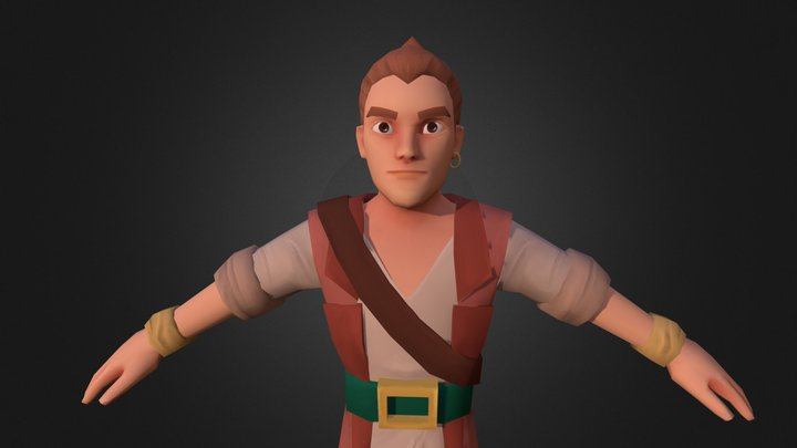 Male Pirate 02 3D Model