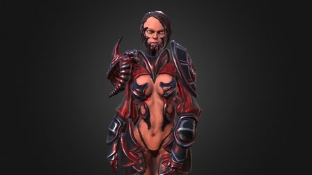 Ashrah - Blood Version 3D Model