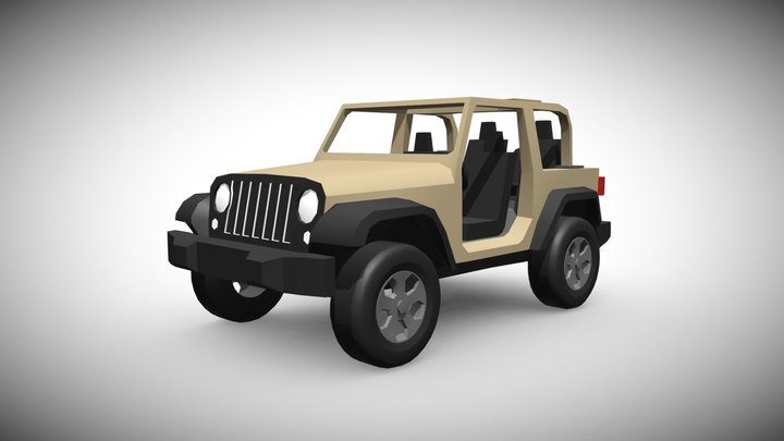 Low-Poly Jeep Wrangler 3D Model