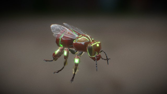 (New) Bee Tech - Hive Wars video game 3D Model