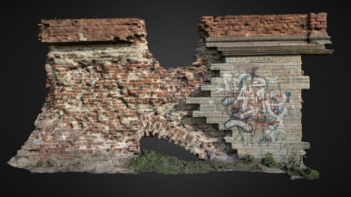 OId brick wall #WallScanChallenge 3D Model