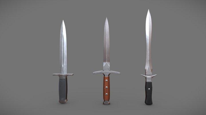 Small set of daggers 3D Model
