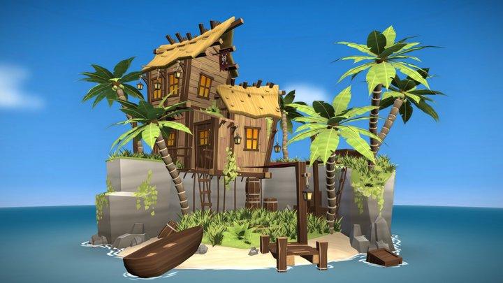 Smugglers Beach 3D Model