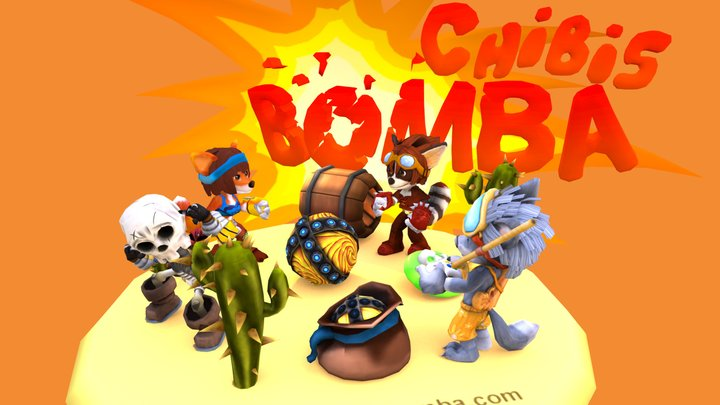 ChibisBomba Scene 2 3D Model