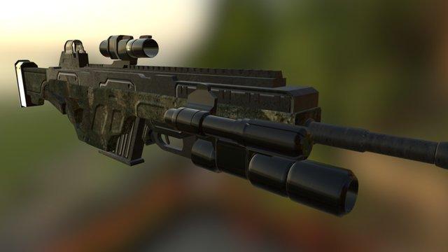 Vesper Burst Fire Machine Gun (Marine Edition) 3D Model