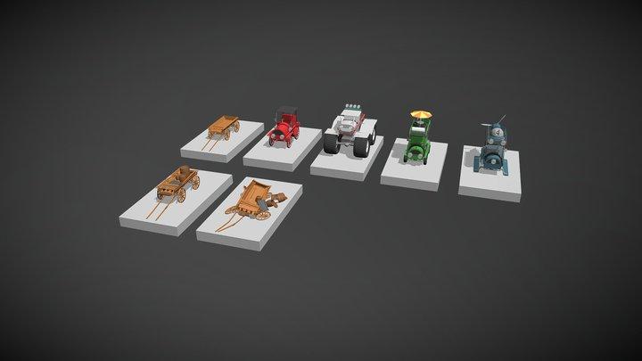 детализация - 5 моделей 3D Model