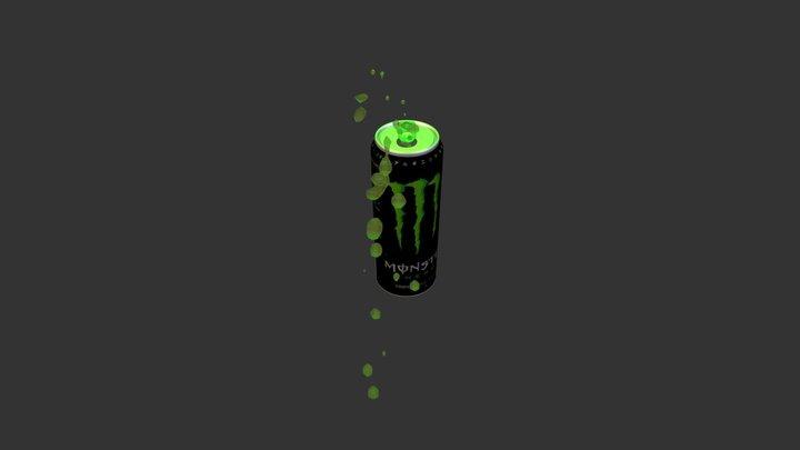 Monster Energy 3D Model