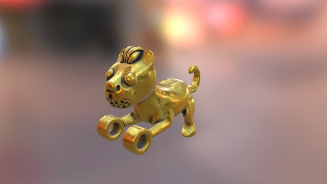 Panamanian Cat Pendant 3D Model