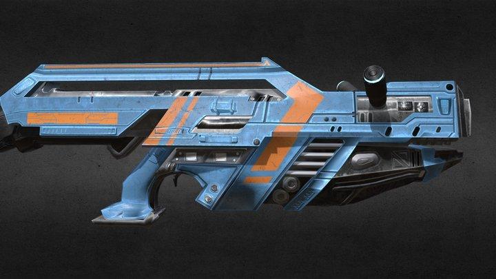 Purger Sci-Fi Rifle 3D Model