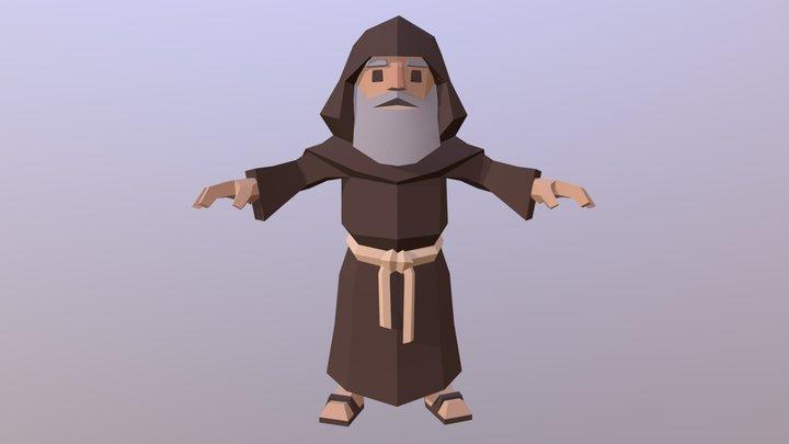 Monk Character 3D Model