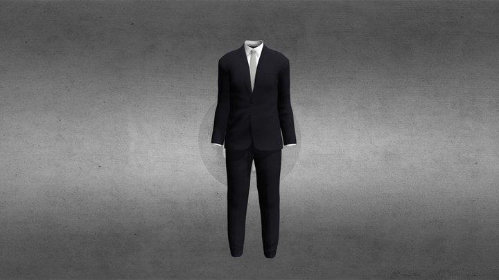 Men's Two Piece Suit 3D Model