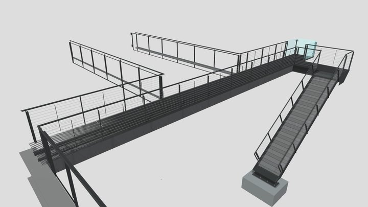 Ext Stair & Bridge Cable Rail Submittal Revised 3D Model