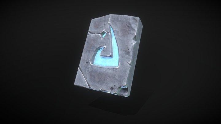 Stylized Rune Stone 3D Model
