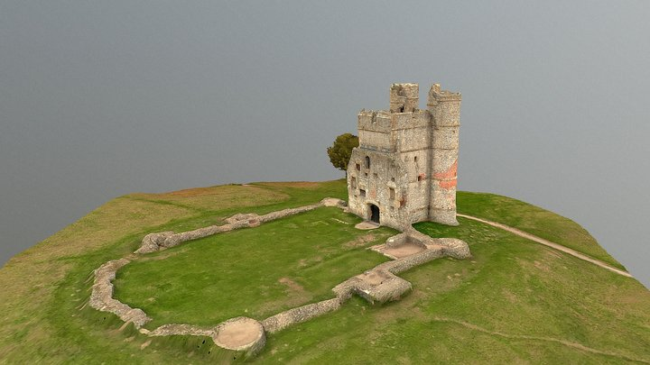 Donnington Castle, extracted from drone video 3D Model