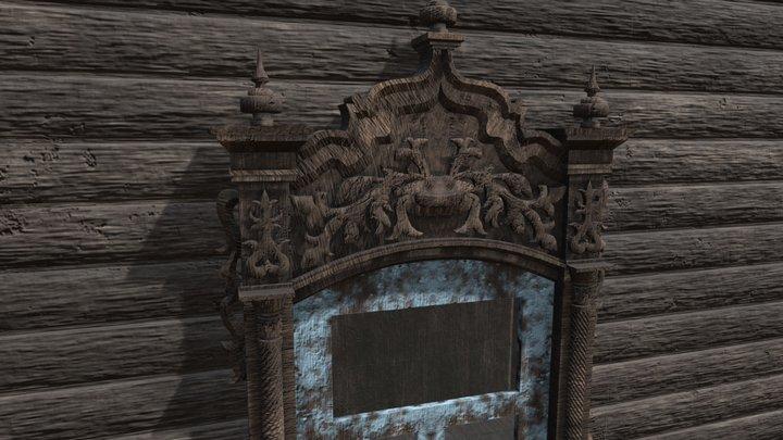 Window wooden platband 3D Model