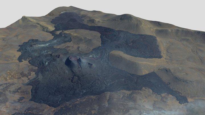 Fagradalsfjall volcanic eruption 10.05.2021 3D Model