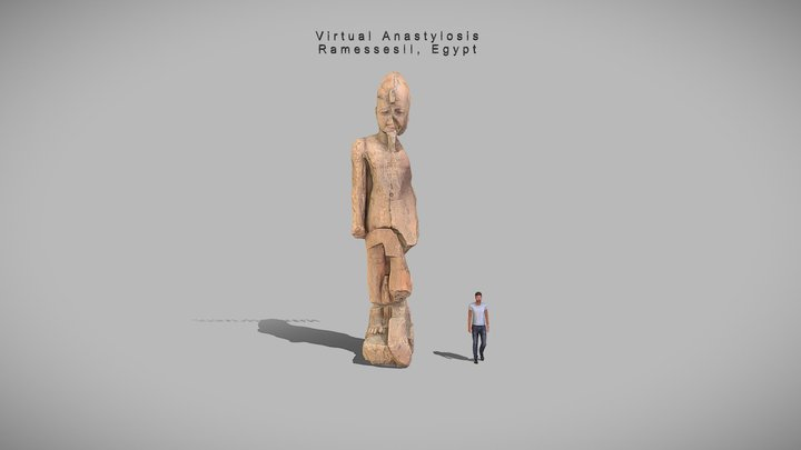 Animation_RamessesII, Egypt(Virtual anastylosis) 3D Model