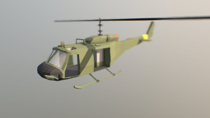 Heuy Helicopter (Low Polly (WIP)) 3D Model
