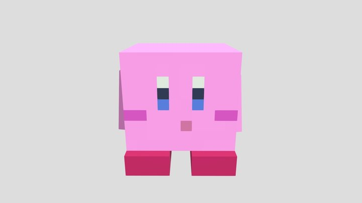 Minecraft Kirby 3D Model