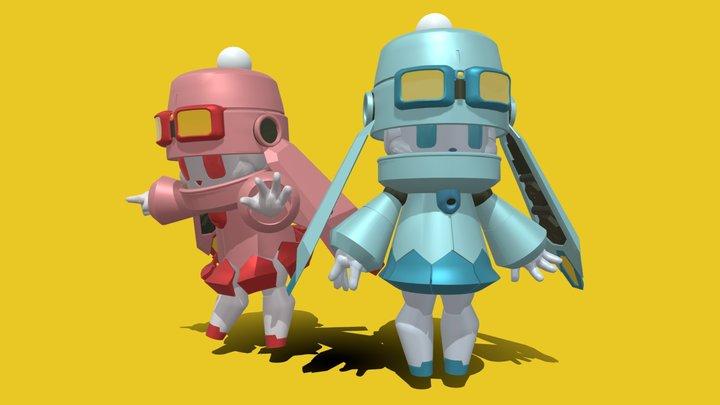 Fuyu Winter Robots 3D Model