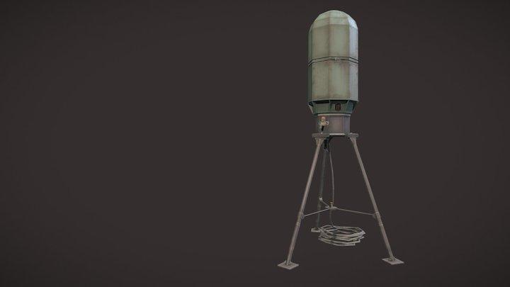Low-Poly SCDL Antenna/Tripod 3D Model