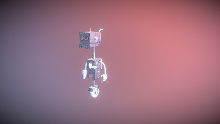 Cleaning Robot 3D Model
