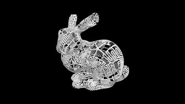 """Bunny"" Bunny 3D Model"