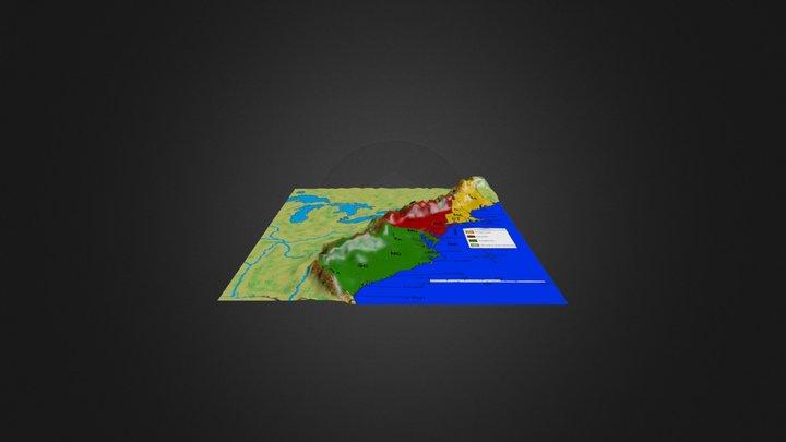 13 Colonies 3D 3D Model