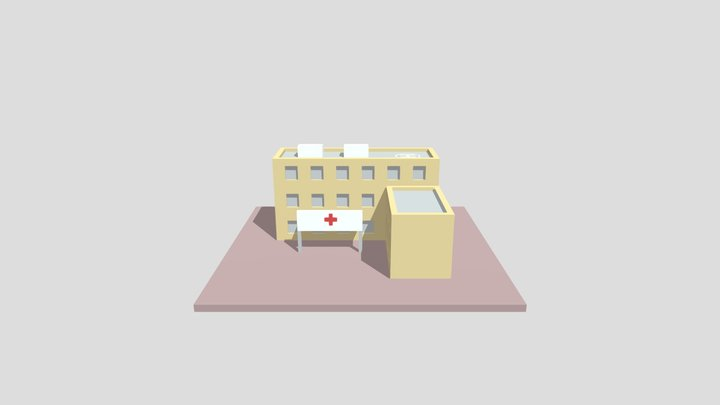 [Low Poly] Hospital 3D Model