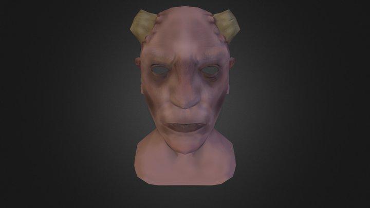 Demon Face Low Poly 3D Model