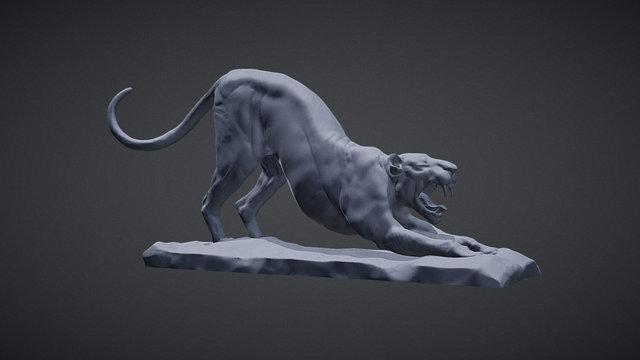 big cat_POSE_02 3D Model