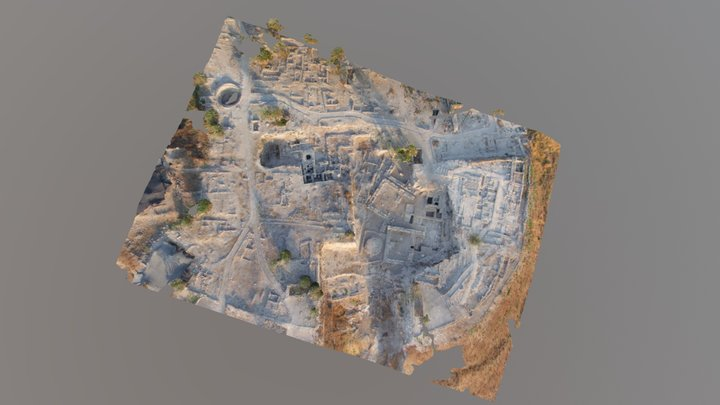 Tel Megiddo Area J, after 2008 Excavations 3D Model