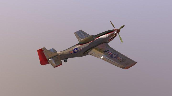 P-51 Mustang Plane 3D Model