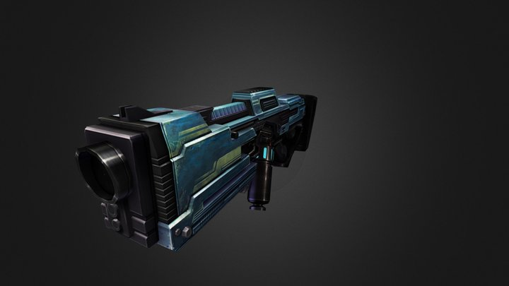 Dino Hunter Exotic Gun 3D Model