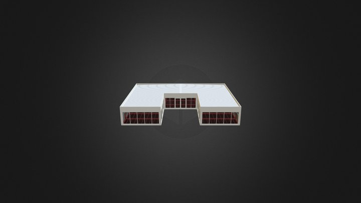 Building With Roof 3D Model