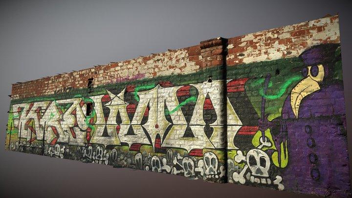 Glasgow Spiers Wharf Graffiti 2 3D Model