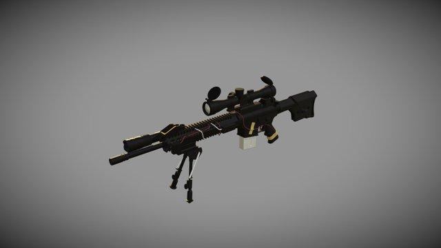 M4 Marksmen Rifle Weekend Project Progress 3D Model