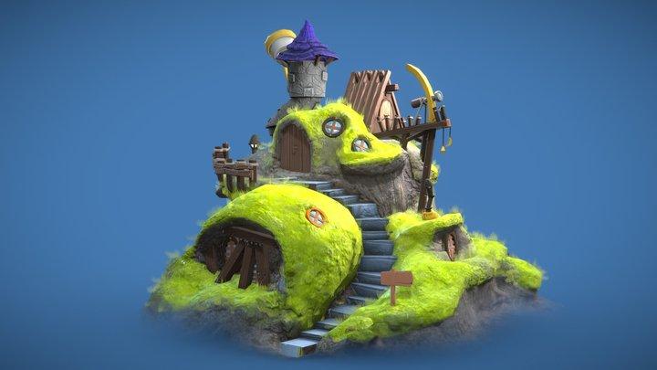 Tiny Cabin 3D Model
