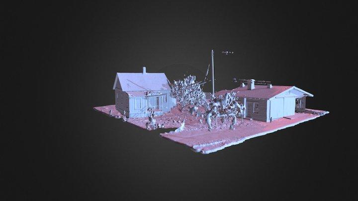 Santa Paula 2 Houses 3D Model