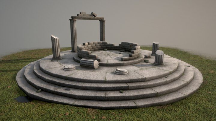 Ancient Greek temple 3D Model