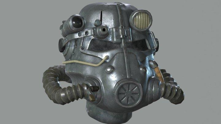Fallout: T45d Power Armor Helmet 3D Model