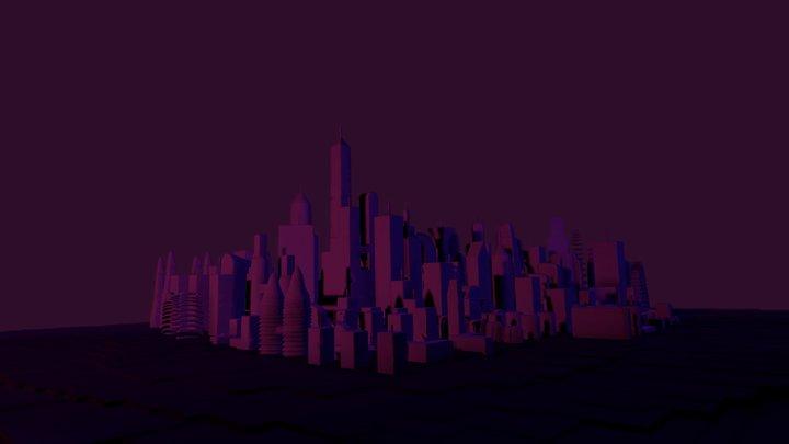 Medium City 3D Model