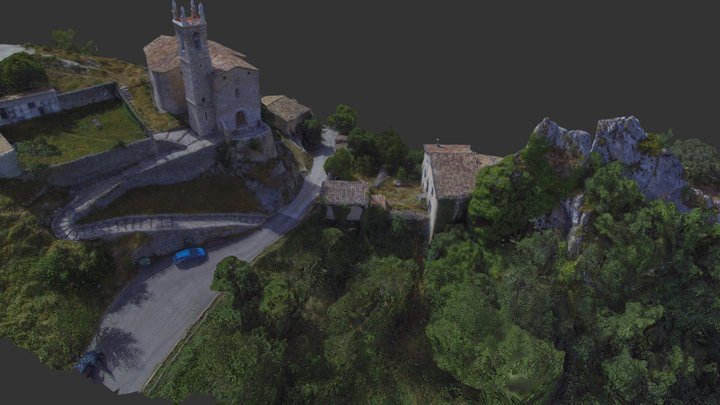Medieval town of La Pedra, Catalonia, Europe 3D Model