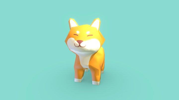 Shiba Inu low poly 3D Model