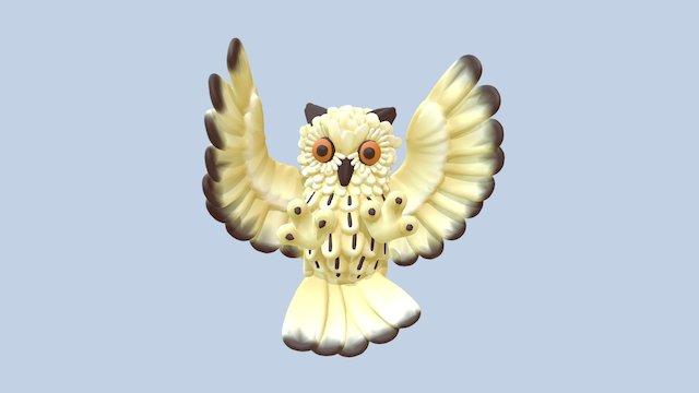 Eurasian Owl 3D Model