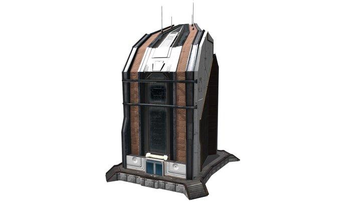 Futuristic Building 1 3D Model